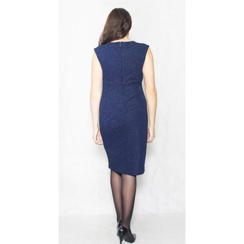 R and M Richard Navy Shimmer Jewel Detail Dress