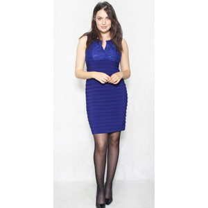 Scarlett Royal Blue Gem & Lace Dress