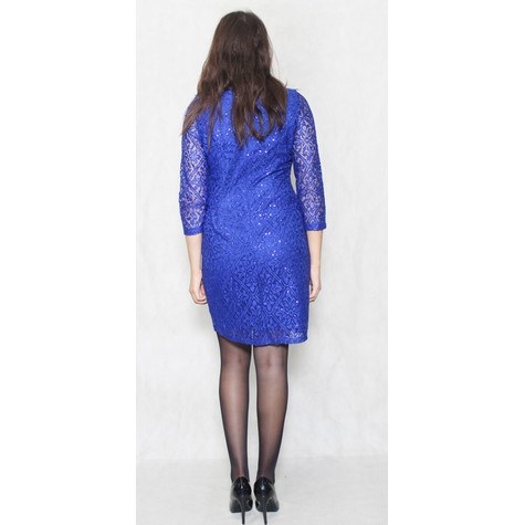 Jessica Howard Royal Blue Long Sleeve Lace Dress
