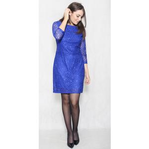 Jessica Howard Royal Blue Long Sleeve Lace Dress