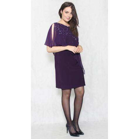 Scarlett Eggplant  Sequence Cape Dress