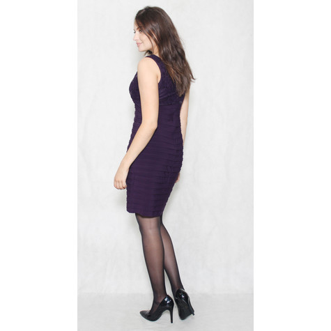 Scarlett Eggplant Lace & Gem Dress