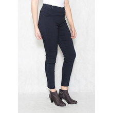 Pamela Scott Navy Elasticated Waist Slim Trousers