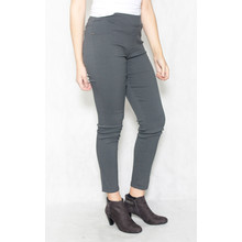 Christy Grey Elasticated Waist Slim Trousers