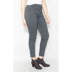 Christy Grey Elasticated Waist Slim Trousers