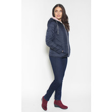 Twist Navy & Pink 2 Tone Winter Coat