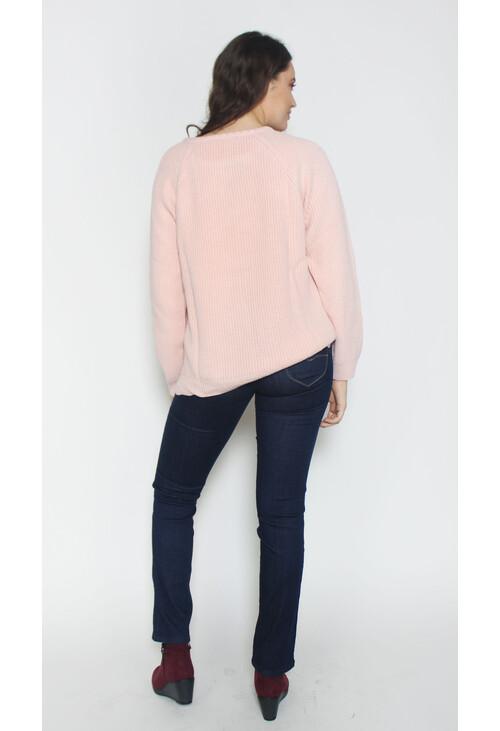 Twist Soft Rose Round Neck Knit