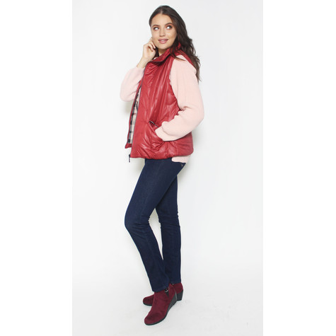 Twist Red Winter Gilet Jacket