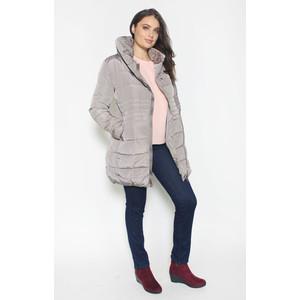 Laura Jo Light Grey Puffa Hooded Winter Coat