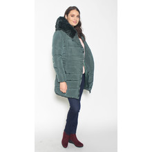 Laura Jo Taupe Puffa Hooded Winter Coat