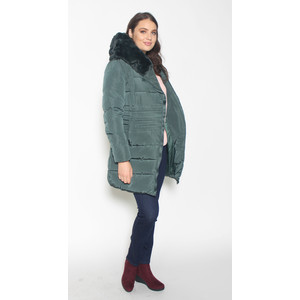Laura Jo Taupe Puffa Hooded Winter Coat