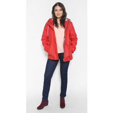 Independent C Red Hooded Rain Coat