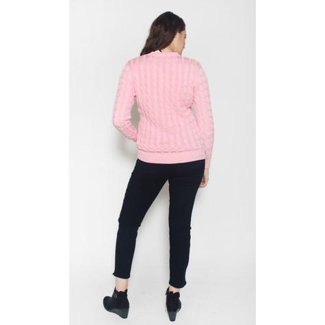 Twist Soft Rose V-Neck Knit