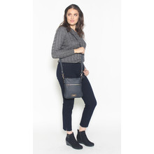 Hampton Navy Zip Detail Cross Body Bag
