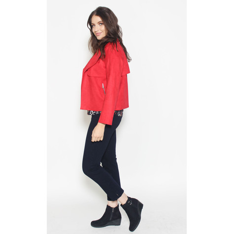 SophieB Red Biker Style Jacket