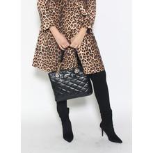 Hampton Black Quilted Chain Detail Bag