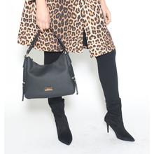 Hampton Black Hobo Handbag