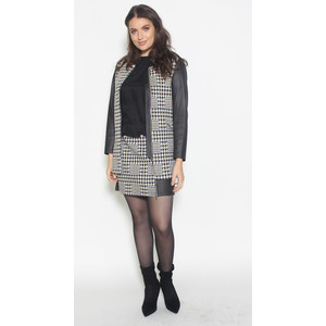 SophieB Black & Gold Hounds-tooth Jacket
