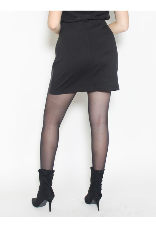 Sophie B Black & Gold Hounds-tooth Skirt