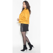 SophieB Ochre Suede Effect Crop Jacket