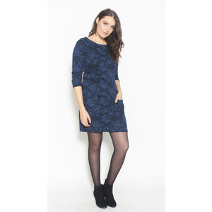 Twist Midnight Floral Pattern Dress