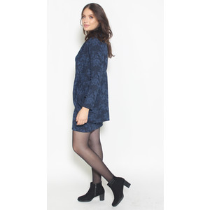 Twist Midnight Floral Pattern Comfy Jacket