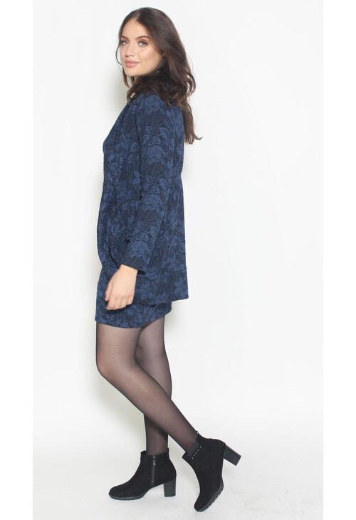 Twist Midnight Floral Pattern Comfy Jacket