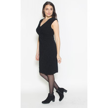 Ronni Nicole Black Twisted Glitter Dress
