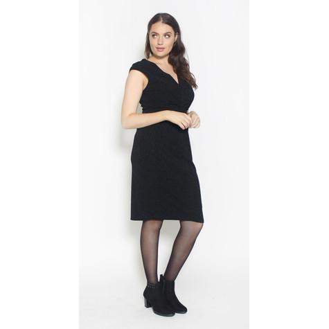 Ronni Nicole Black Twisted Glitter Dress