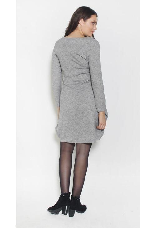 Sophie B Plain Light Grey Loose Dress