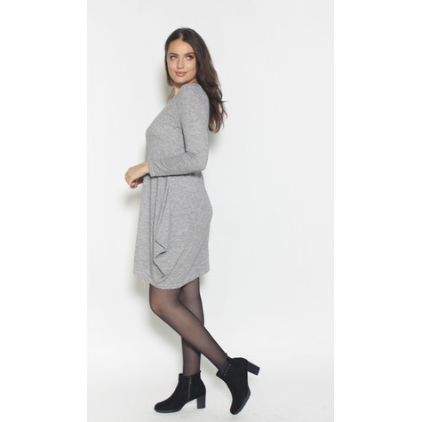 SophieB Plain Light Grey Loose Dress