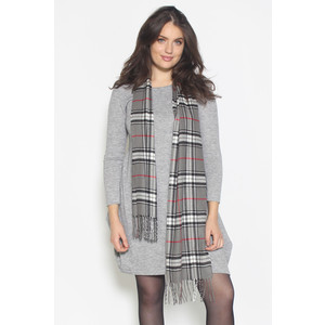 Passigatti Melange & Grey Check Long Scarf