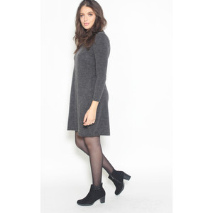 SophieB Dark Grey Plain Dress