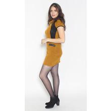 SophieB Mustard Black Side Panel Dress