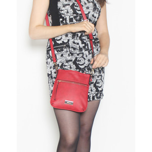 Hampton Zipper Red Cross Body Bag