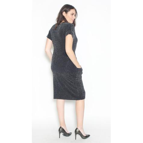 Zapara Silver & Black Wrap Dress
