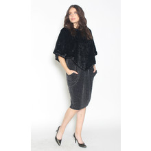 Zapara Black Faux Fur Bolero Knit