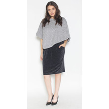 Zapara Grey Faux Fur Bolero Knit