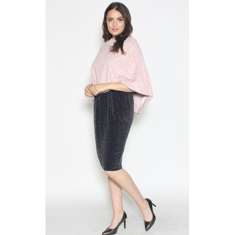 Zapara Pale Pink Faux Fur Knit