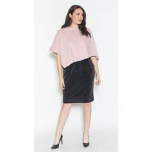 Zapara Pale Pink Faux Fur Knit