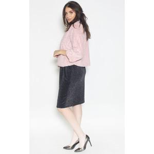 Zapara Crop Faux Fur Pink Jacket