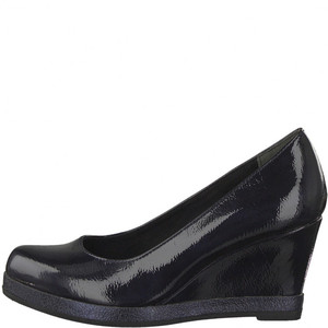 Marco Tozzi Black Patient Wedge Shoes