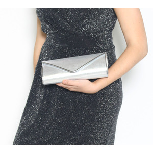 Barino Metallic & Silver Envelope Bag