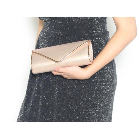Barino Rose Gold Metallic Envelope Bag