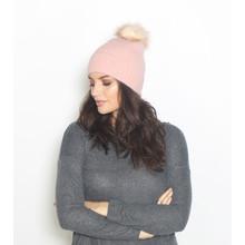 Pieces Pale Pink Faux Fur Bobble Hat