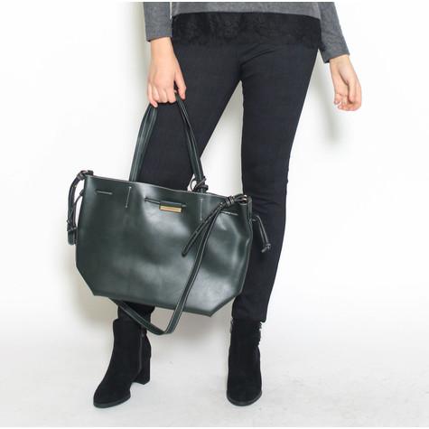 Pamela Scott Vert Purse Attached Shopper Bag