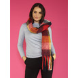 Pamela Scott Red, Navy & Mustard Check Long Scarf