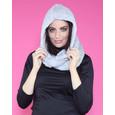 Pamela Scott Grey Faux Fur Scarf & Hoodie