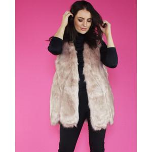 Pamela Scott Pink Faux Fur Gilet