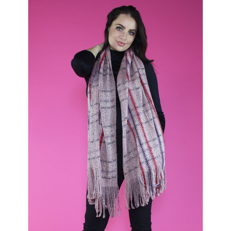 SophieB Pink Boucle Long Scarf
